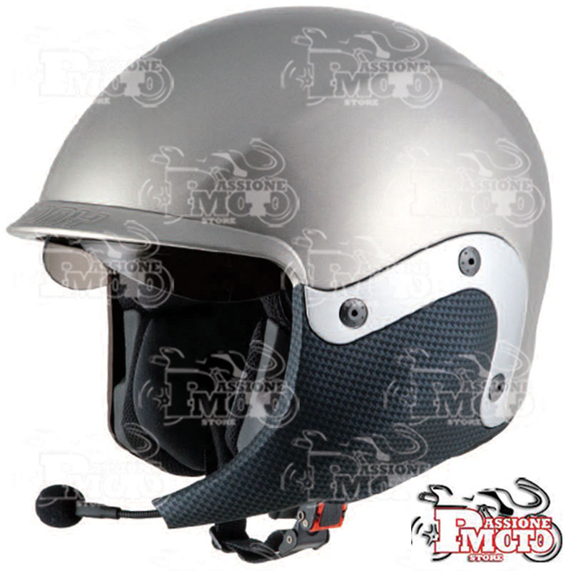 Casco Suomy 3logy Silver + SCS Communicator