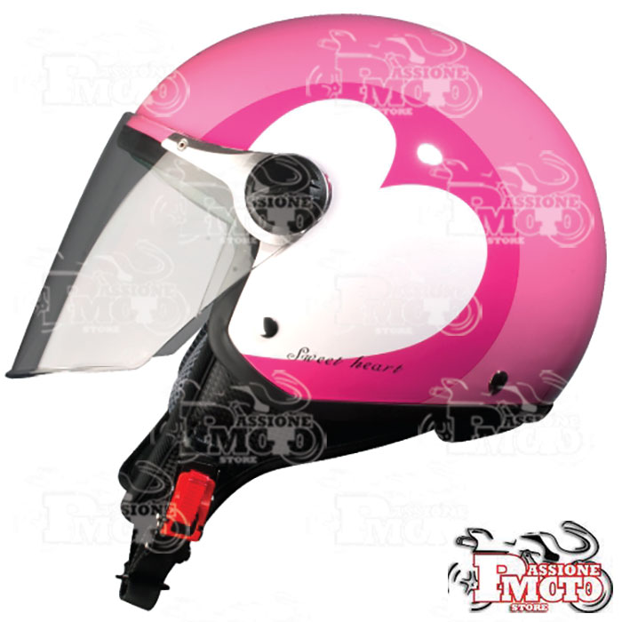 Casco Jet BHR One 710 Love Rosa