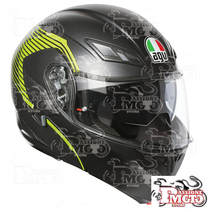 Casco AGV Compact ST Multi Vermont Matt Black/Yellow Fluo