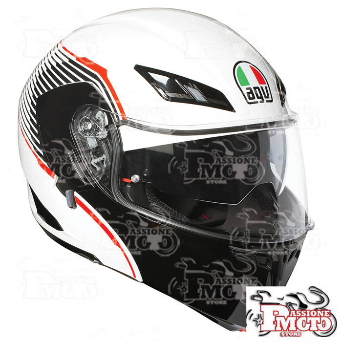 Casco AGV Compact ST Multi Vermont White/Black/Red