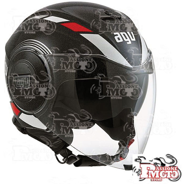 Casco AGV Fluid Multi Equalizer Black-Grey
