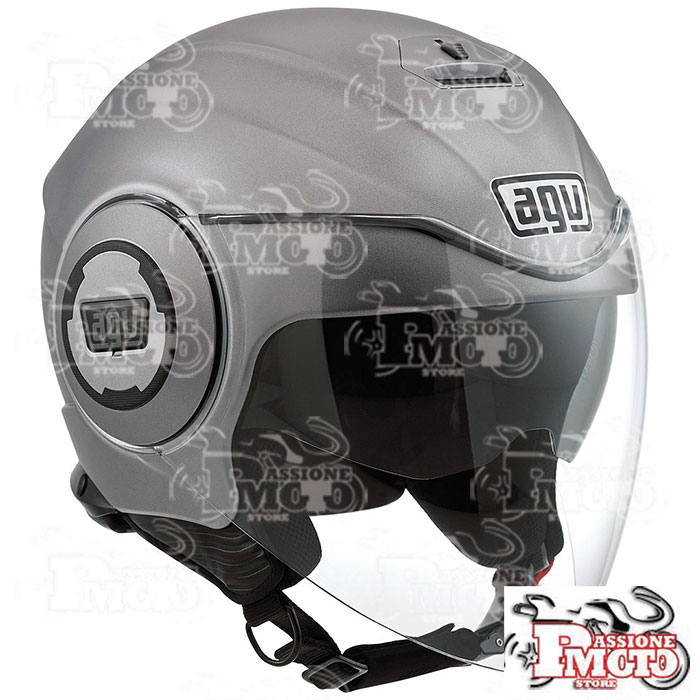 Casco AGV Fluid Mono Matt Grey