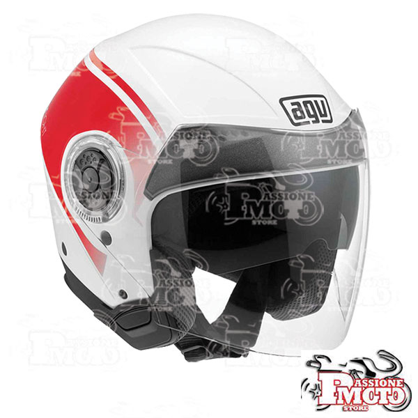 Casco AGV New Citylight World White/Red