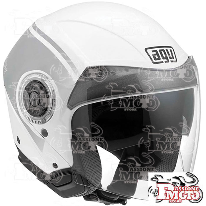 Casco AGV New Citylight World White-Gunmetal