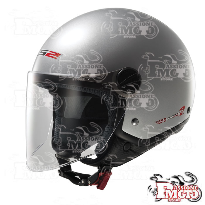Casco Jet LS2 OF560 Rocket II Gloss Silver