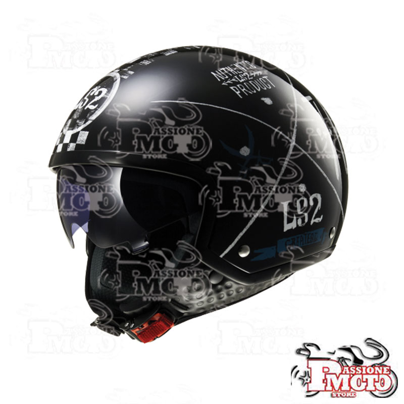 Casco Jet LS2 OF561 Wave Greatest Black