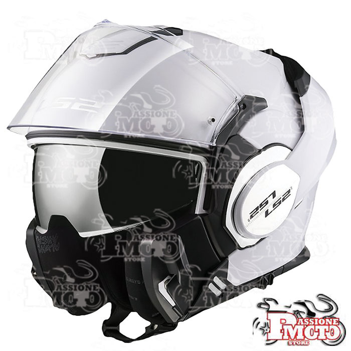 Casco Modulare FF399 Valiant Single Mono Gloss White