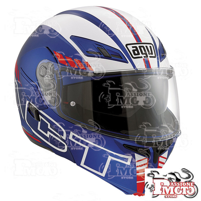Casco AGV Compact ST Seattle Matt Blue/White/Red