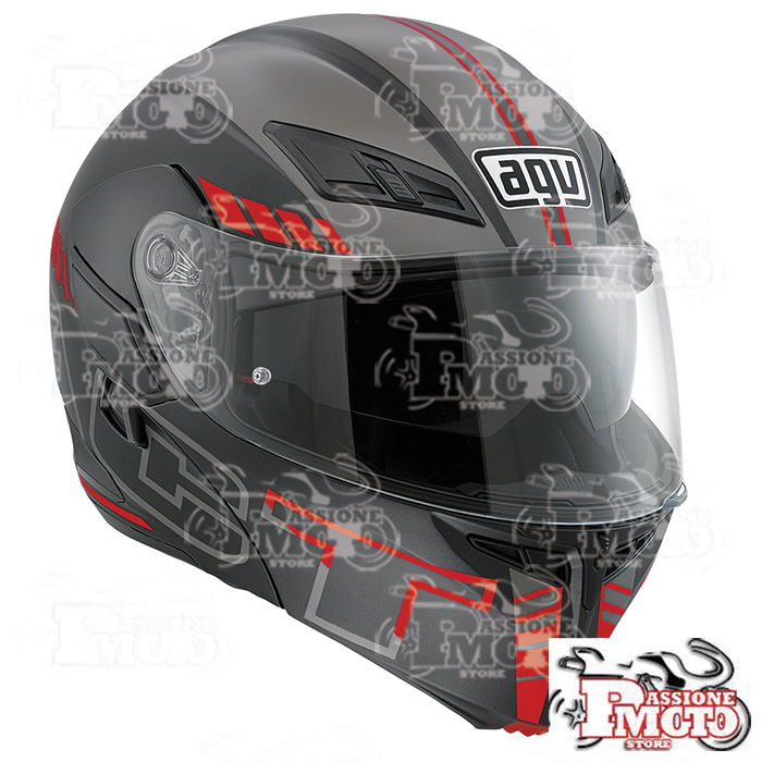Casco AGV Compact ST Multi Seattle Matt Black/Silver/Red