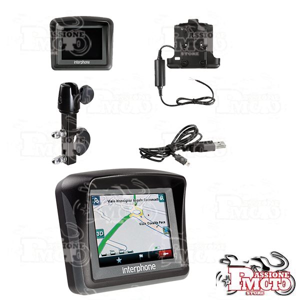 Navigatore satellitare Bluetooth� per moto GPS Bike Italy