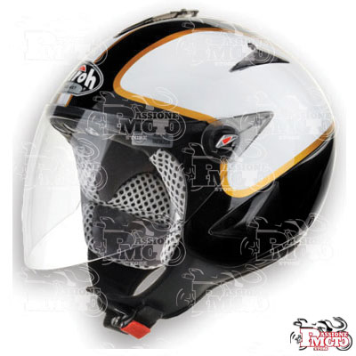 Casco Jet Airoh JTR38 Black/White Gloss