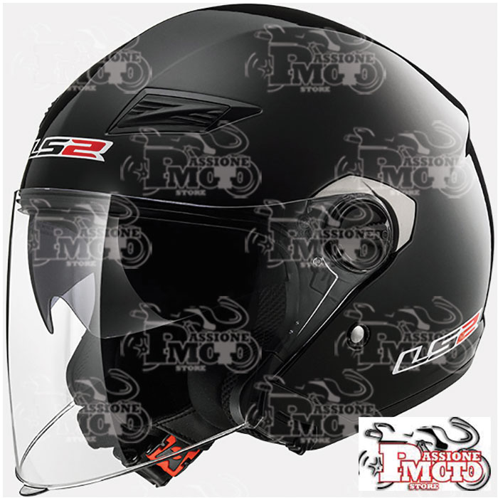 Casco Jet LS2 OF569 Track Solid Black