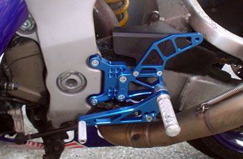 Pedane Arretrate 4 Racing per Honda VTR SP1/SP2 Color