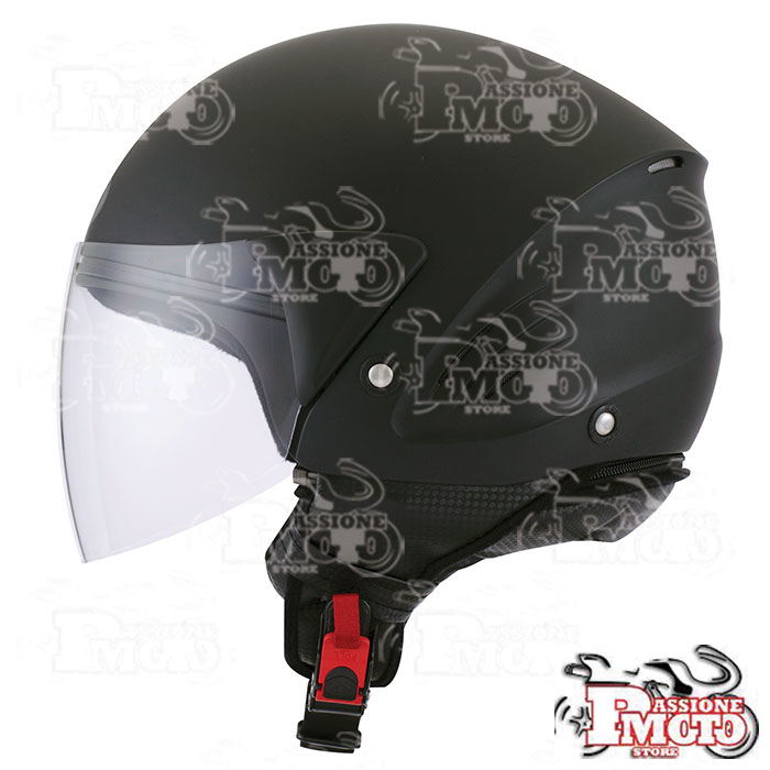 Casco Kyt Cougar Plain Black Matt