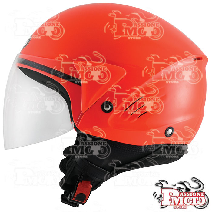 Casco Kyt Cougar Plain Red Fluo