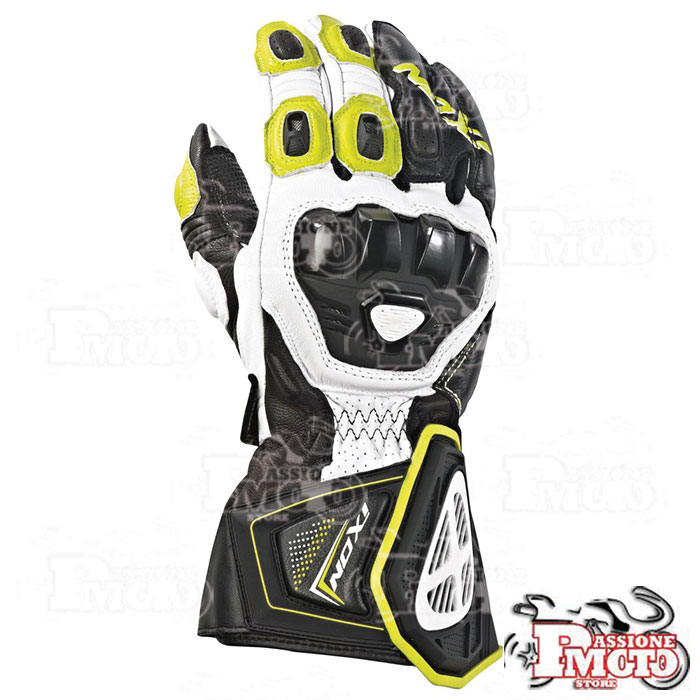 Guanti Racing Ixon Rs Pro HP Nero/Giallo vivo