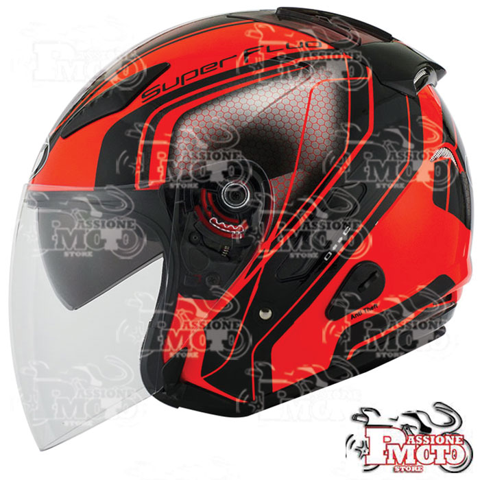 Casco Kyt Hellcat Superfluo Red