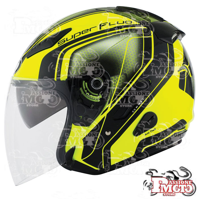 Casco Kyt Hellcat Superfluo Yellow
