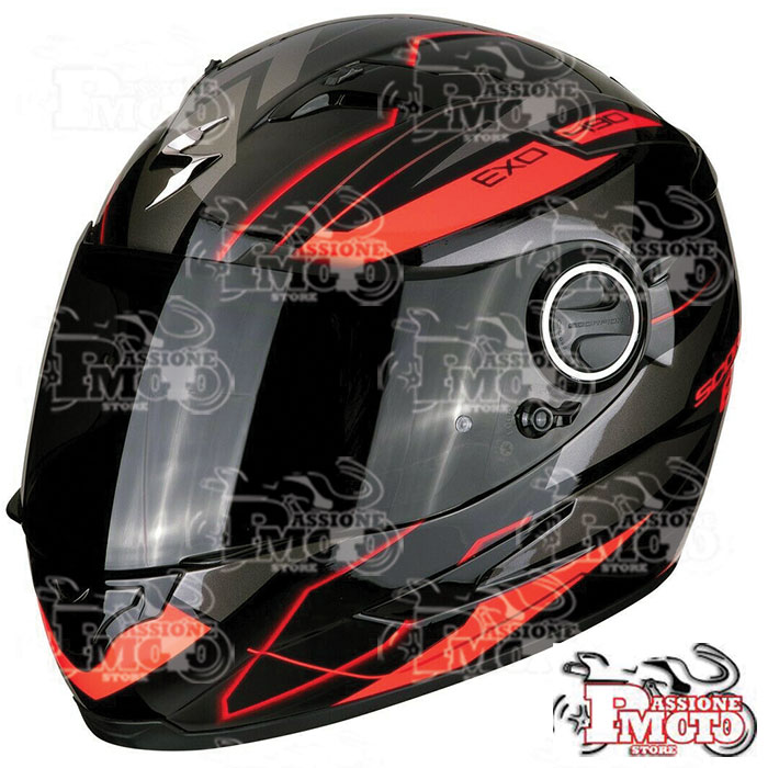 Casco Scorpion Exo-490 Nova Black/Red Fluo