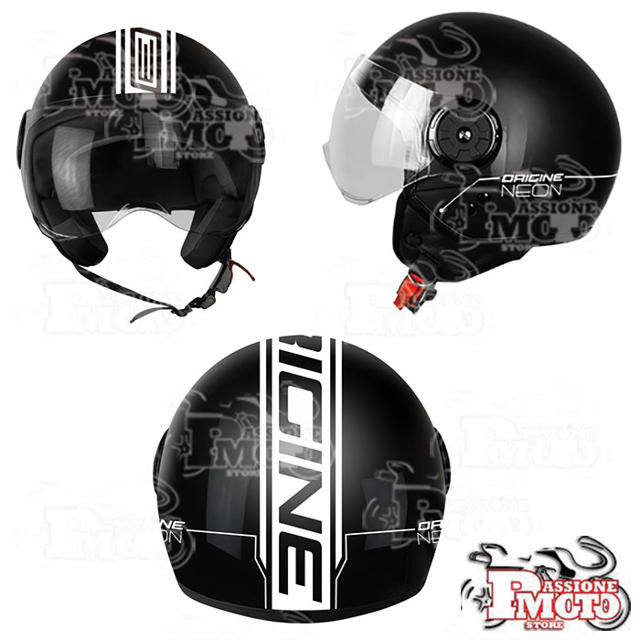 Casco Jet Origine Neon Street Black