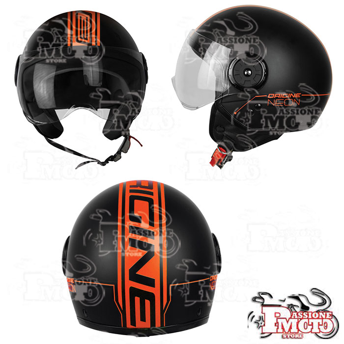 Casco Jet Origine Neon Street Orange