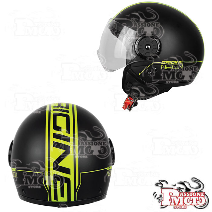 Casco Jet Origine Neon Street Yellow