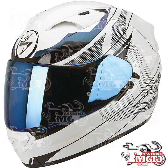 Casco Scorpion Exo 1200 Air Fulmen White Camaleonte Black