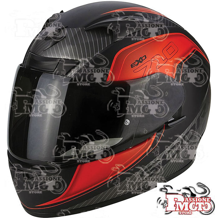 Casco Scorpion Exo 710 Air Mugello Matt Black/Red/Silver